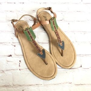 Lucky Brand heart arrow sandals